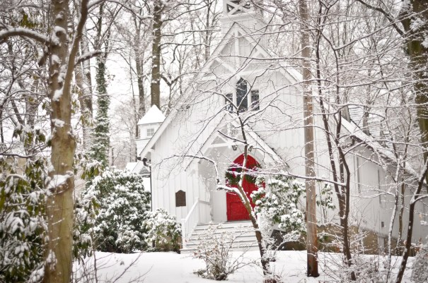 Church in snow from last winter.