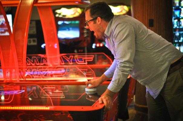 Steve at the arcade.