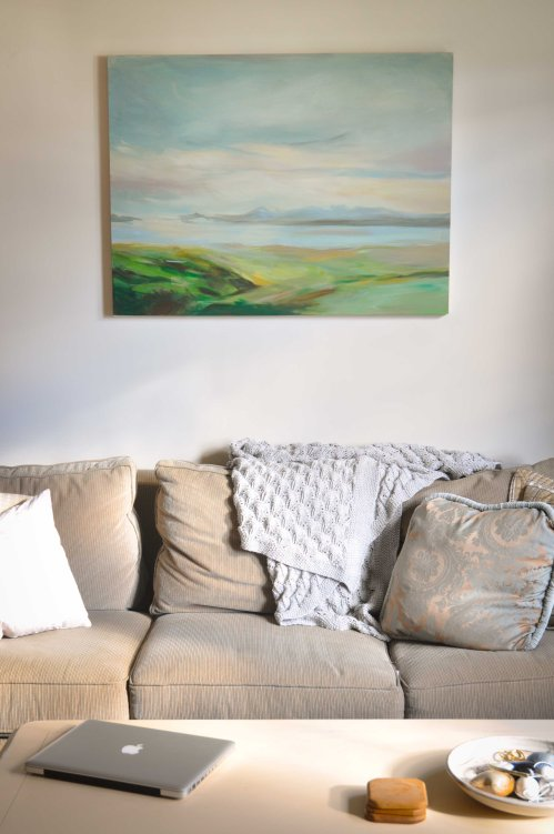 Couch and painting I did (mix of a copy and original).